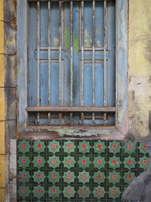 Fenêtre d'une maison chinoise